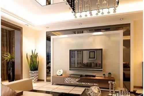装修电视墙效果图 打造华丽高贵的简欧风格电视墙图片