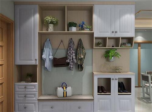 入户鞋柜装修效果图 时尚鞋柜设计让家装更有品位