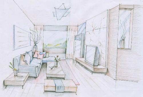 室内房间简笔画-装修公司让设计师上门量房的好处,惊人