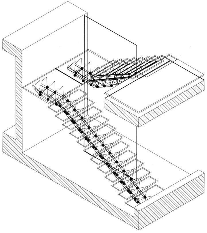 楼梯手绘的立面图