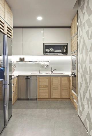 现代北欧风公寓厨房装修效果图