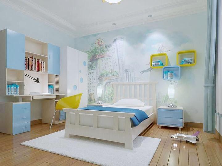 个性手绘墙,给卧室多加一些活力