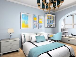 现代混搭两居室装修效果图