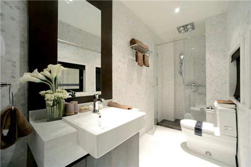 瓷砖自砌浴室柜效果图 新颖独特的浴室装饰效果
