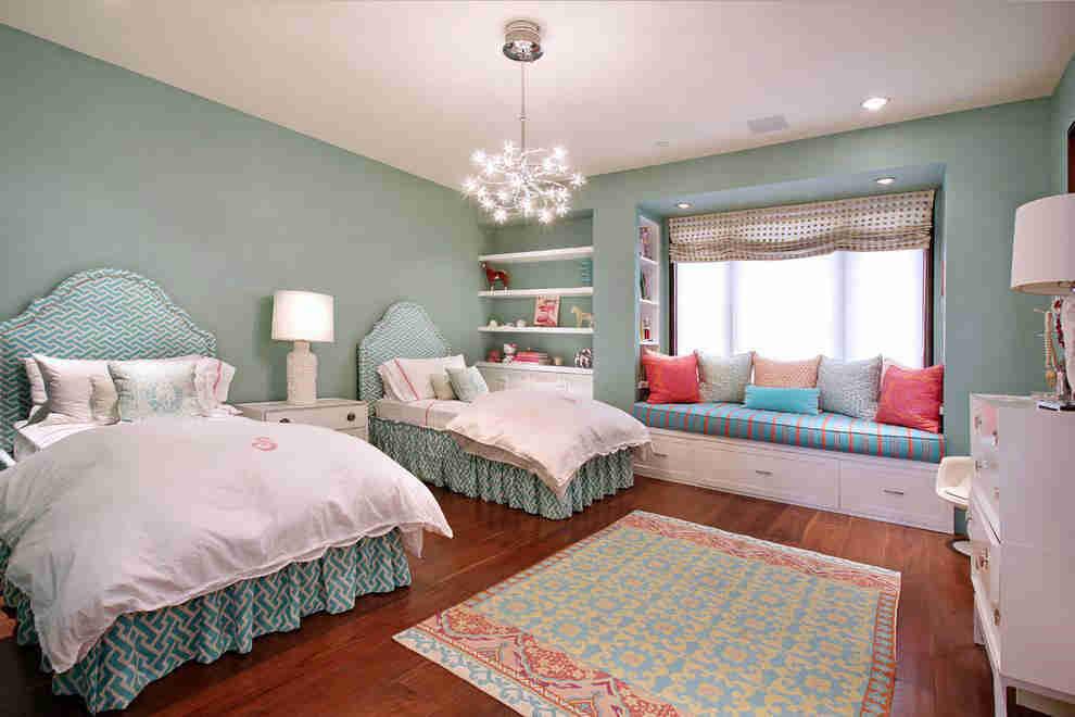 张杰谢娜的双胞胎女儿出生了,双胞胎的房间可以这样美