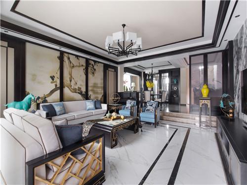 新中式风格客厅效果图二