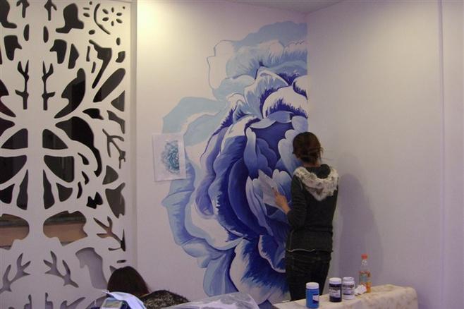 独一无二中式手绘墙,给家增添不少韵味!