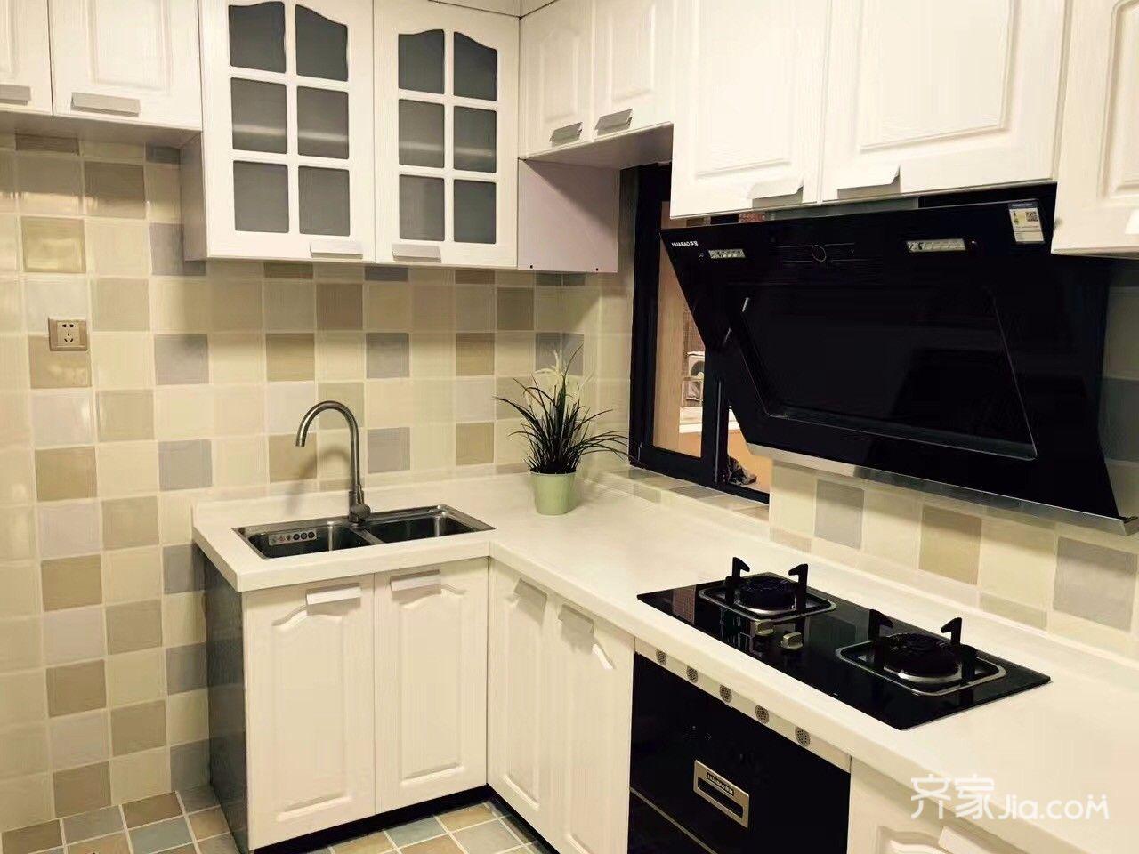 小戶型簡約風三居裝修廚房搭配圖
