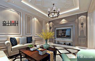260平美式风格别墅客厅装修效果图