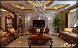 古典欧式豪华别墅电视背景墙装修效果图图片