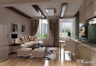 一居室简约风格复式装修效果图