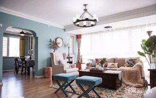 105平美式三居室装修设计图