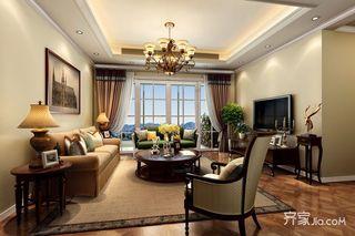 160平米简约三居室装修客厅效果图