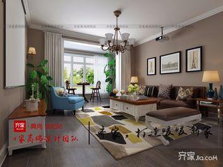140平三居室混搭装修效果图