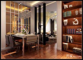 现代简约二居室餐厅设计图