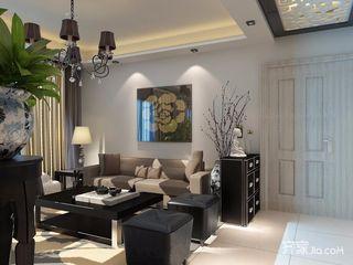 125平现代简约装修客厅效果图