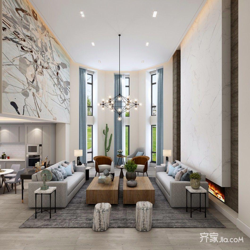 北欧三居室装修客厅效果图