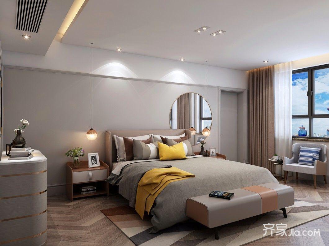北欧三居室装修卧室效果图