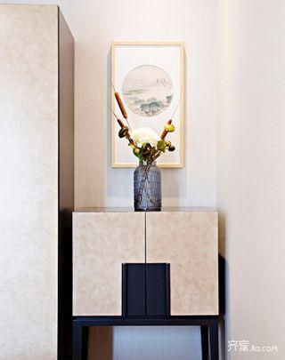 中式三居室装修门厅鞋柜