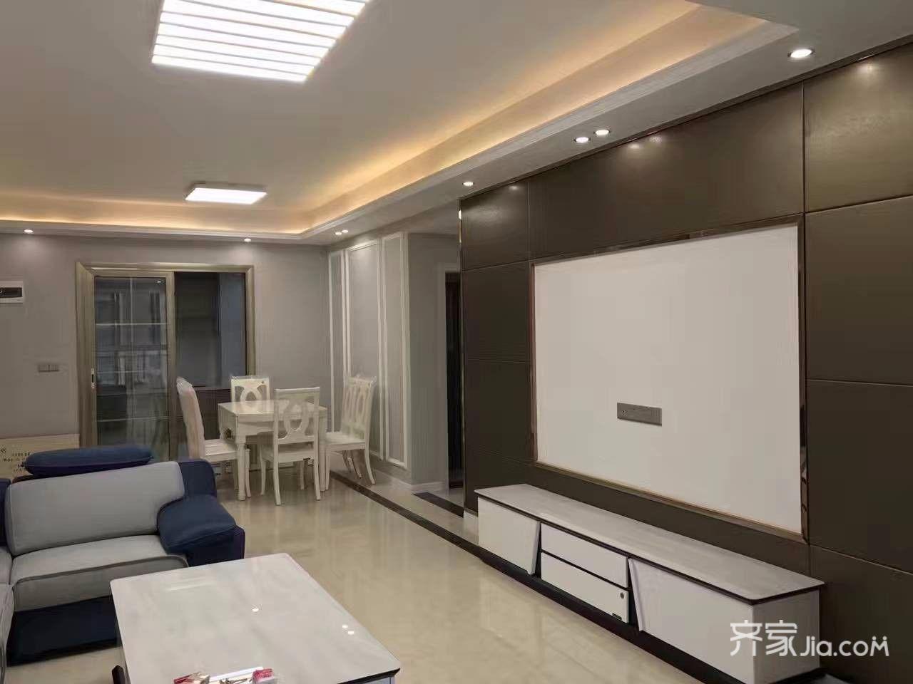 150平米极简主义装修电视背景墙