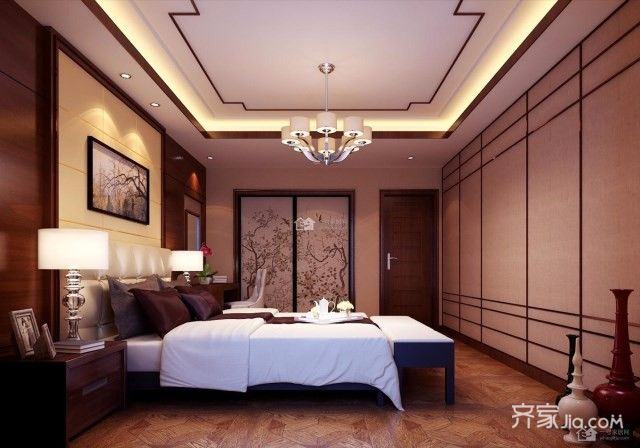 新中式二居室卧室设计图