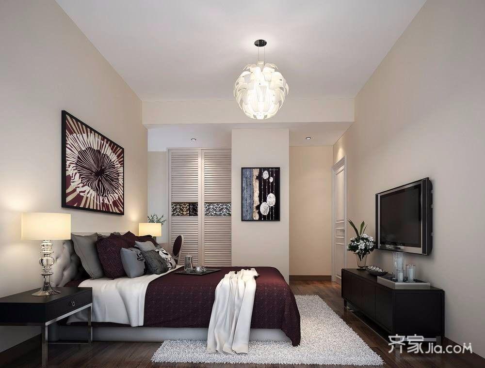 130平简约之家卧室效果图