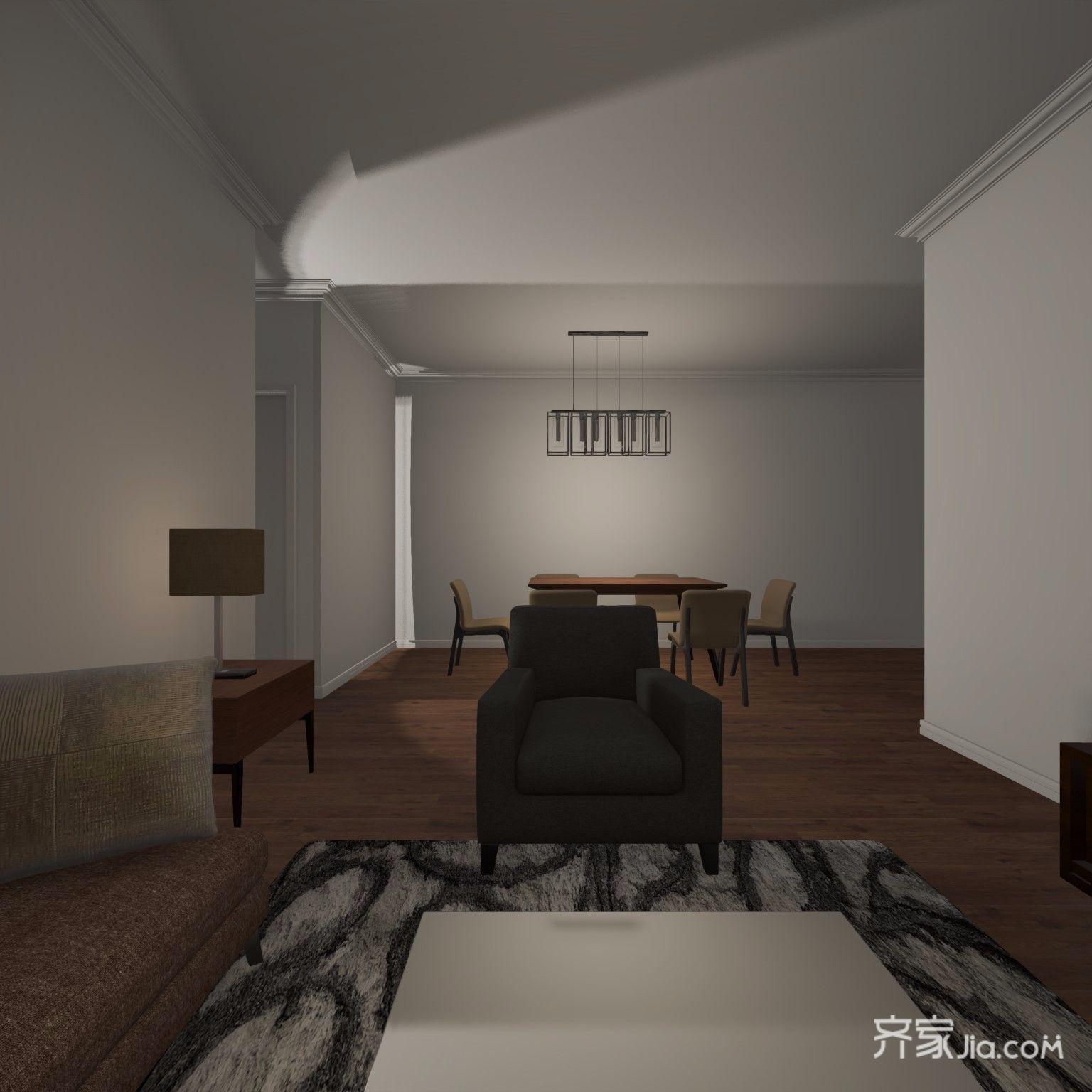 简约二居室装修客厅效果图
