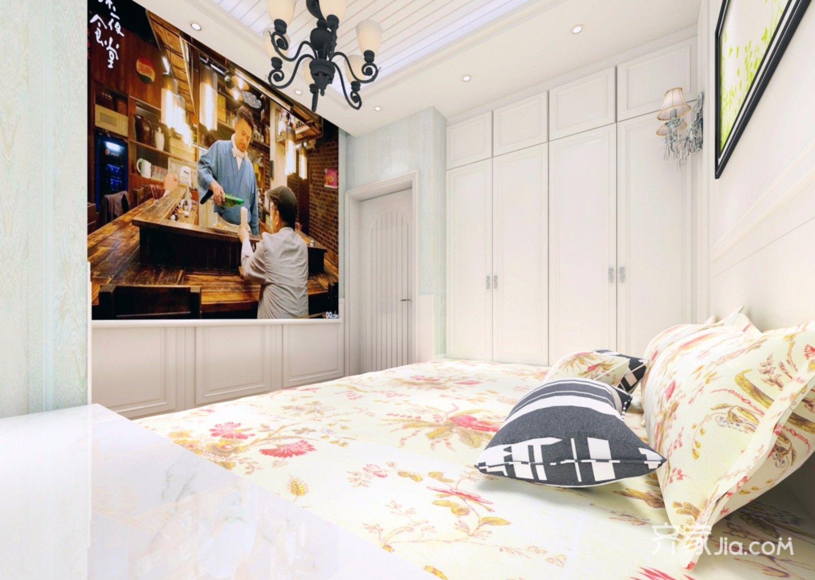 二居室田园风格家卧室设计图