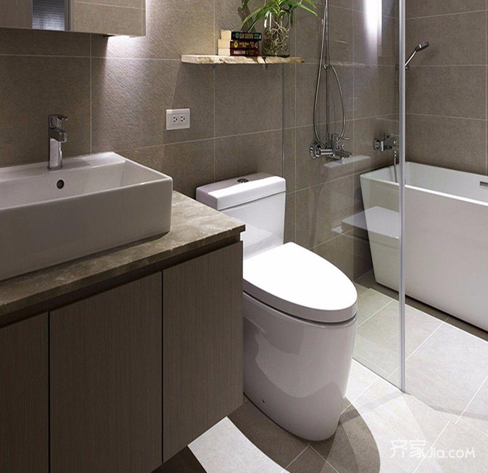 95平米二居室装修卫生间装潢图