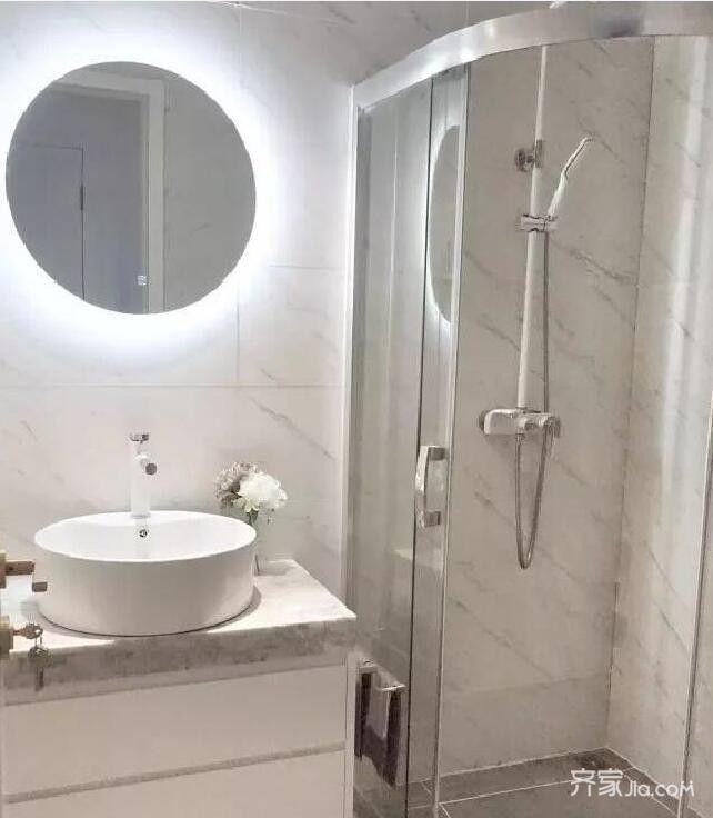 90后的婚房设计卫生间效果图
