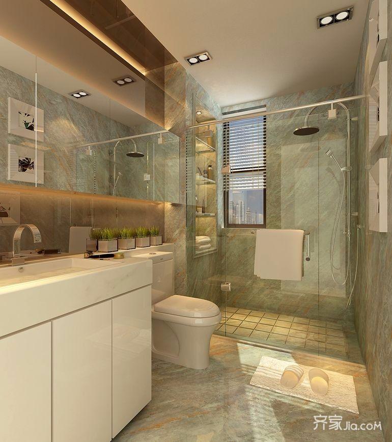 175㎡中式风格设计卫生间装潢图