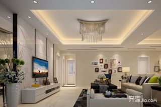 简约140平装修设计客厅效果图
