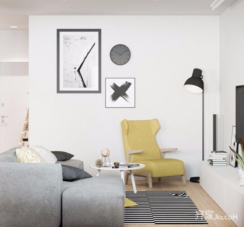 三居室简约之家客厅效果图