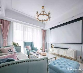 二居室法式混搭装修客厅效果图