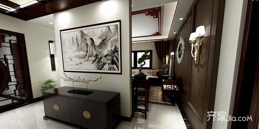 中式别墅装修效果图 古香古色
