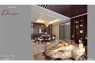 中式别墅设计餐厅效果图
