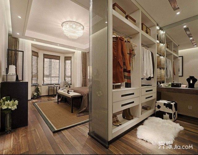 三居室中式装修衣帽间设计图