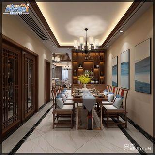 170平中式别墅设计餐厅布置图