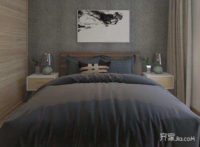 120平简约风格装修卧室效果图