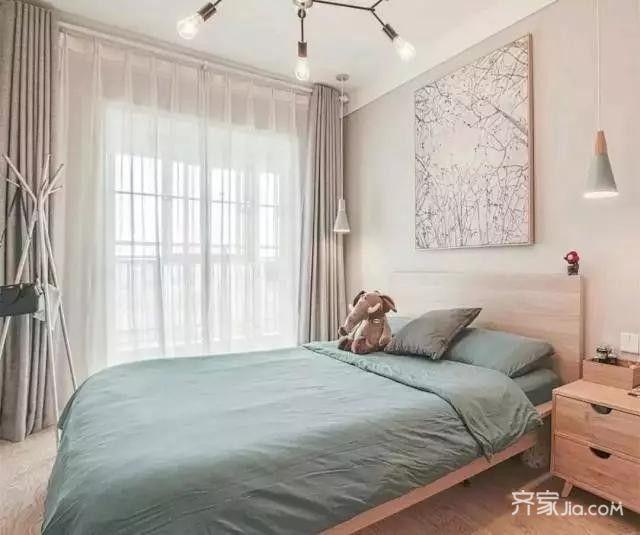 80平宜家风格装修卧室效果图