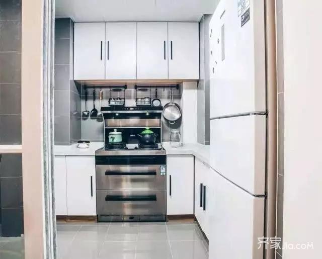 80平宜家风格装修厨房设计图