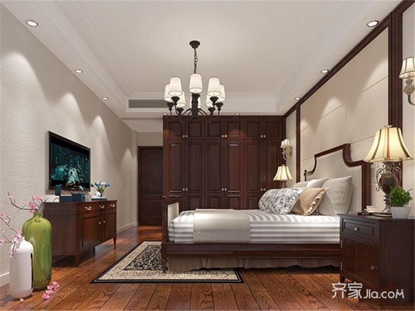 120㎡欧式风格装修卧室效果图
