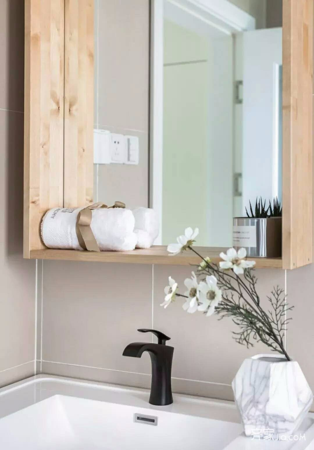 新中式二居室装修卫生间效果图