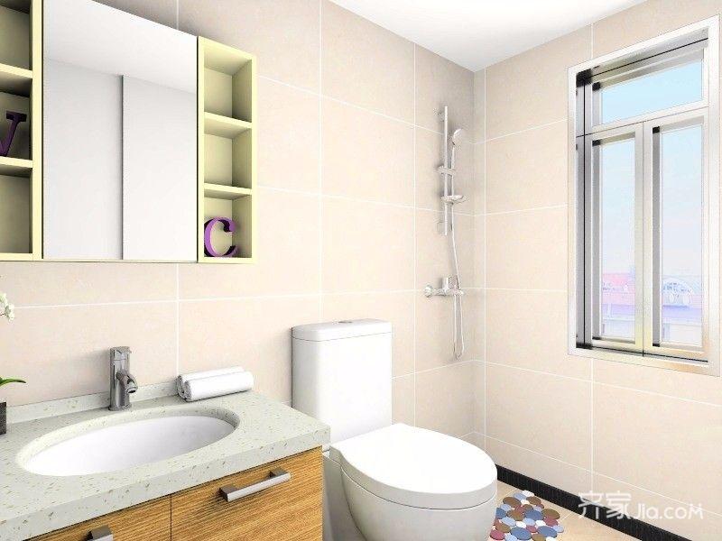 40平中式风格装修卫生间装潢图