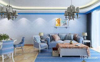 80㎡地中海风格家沙发图片