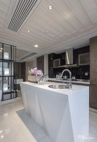 150平四居室中式韵味之家厨房装潢图