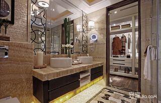 150平四居室中式韵味之家卫生间装潢图