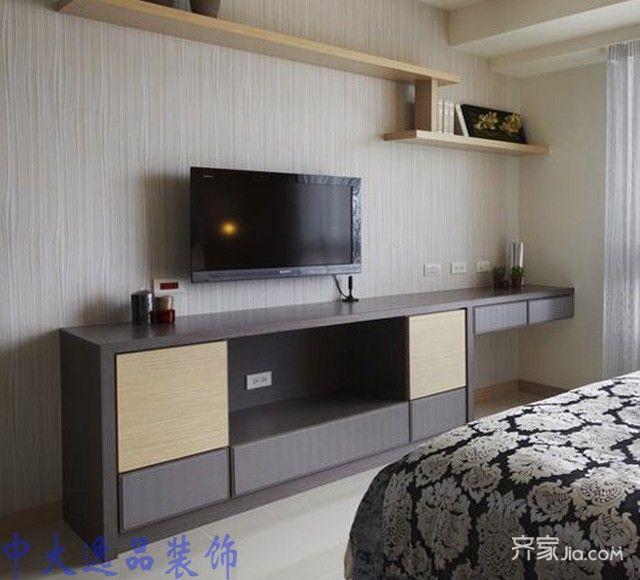 125平简约风格装修卧室设计图