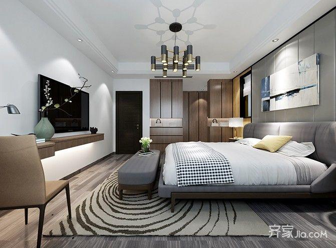 130平欧式风格家卧室效果图