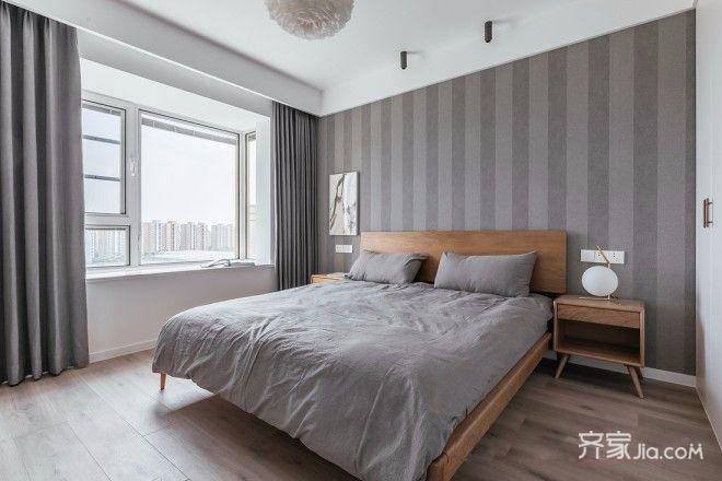 130平北欧风装修卧室效果图
